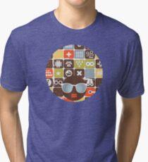 Robots on buttons Tri-blend T-Shirt