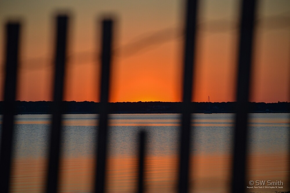 Fenced Dawn | Noyack, New York by © Sophie W. Smith