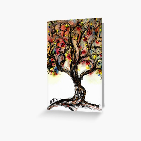 Rainbow Tree by 'Donna Williams' Greeting Card