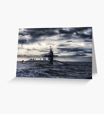 Submarine Greeting Card