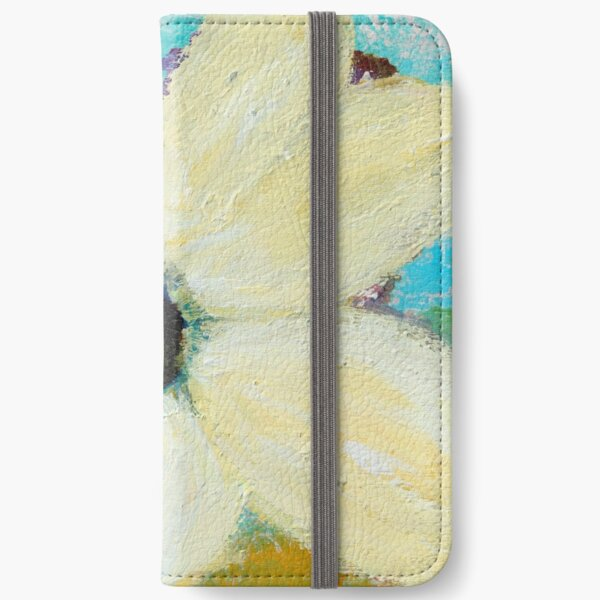 WINTER WHITE FLORAL - Art by Kathleen Tennant iPhone Wallet