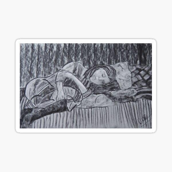 Sleeping by 'Donna Williams' Sticker