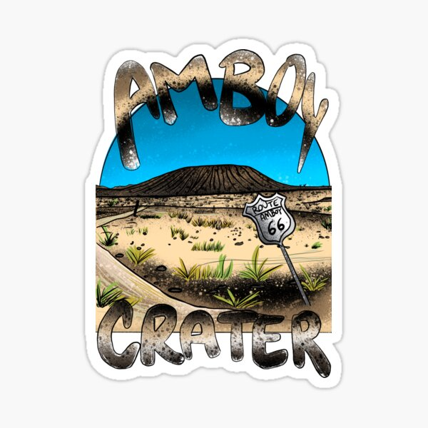 Amboy Crater Sticker