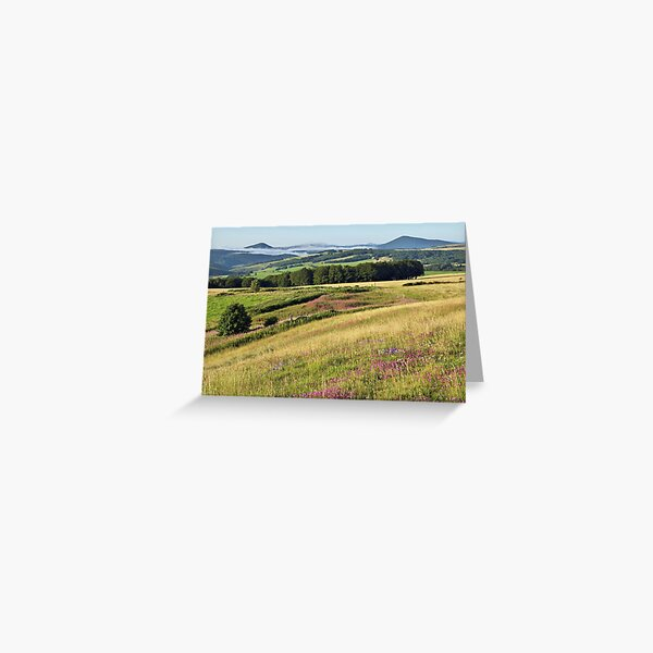 Morning landscape in Ardeche Greeting Card