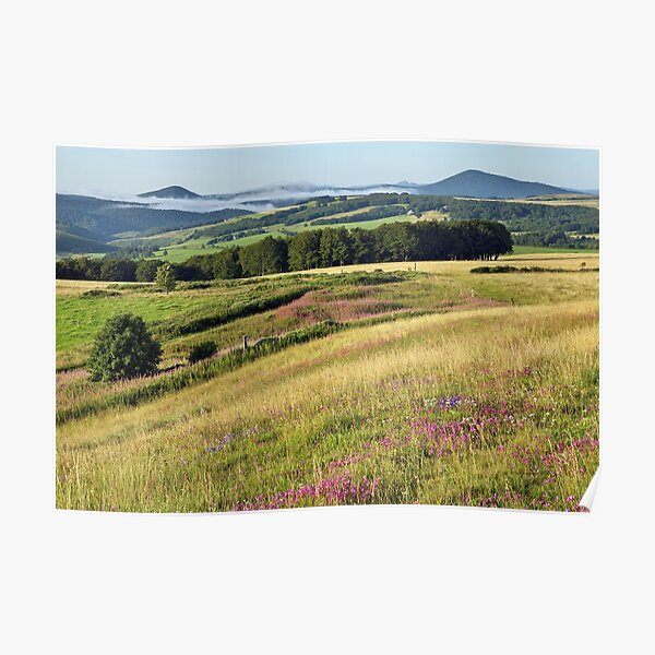Morning landscape in Ardeche Poster