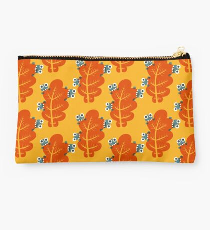 Cute Bugs Eating Autumn Leaves Studio Pouch
