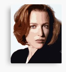 Dana Scully cutout Canvas Print