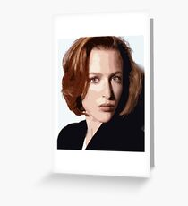 Dana Scully cutout Greeting Card