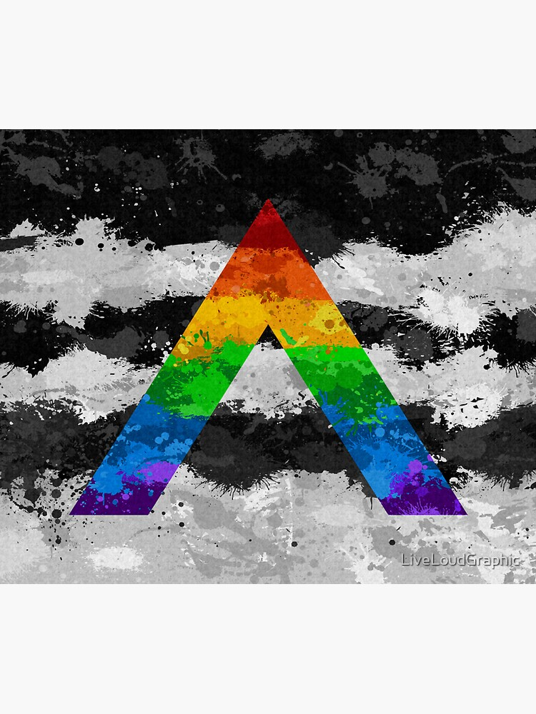 LGBT Ally Paint Splatter Flag by LiveLoudGraphic