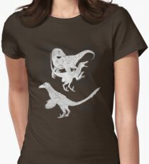 Just say NO to unfeathered non-avialan maniraptoran theropod dinosaurs Womens Fitted T-Shirt