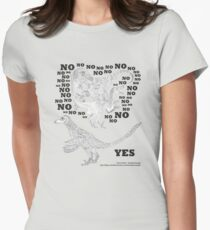Just say NO to unfeathered non-avialan maniraptoran theropod dinosaurs Women's Fitted T-Shirt