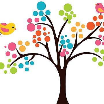 Cute Colourful Tree by chunkymonkey