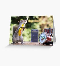 Rock and roll squirrel with guitar Greeting Card
