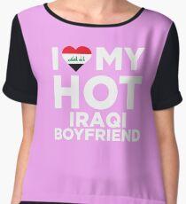 I Love My Hot Iraqi Boyfriend Chiffon Top
