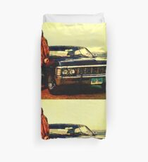 supernatural tv dean baby impala fan art Duvet Cover