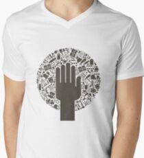 Arts a hand Men's V-Neck T-Shirt