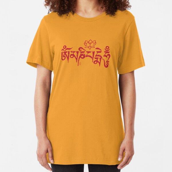 Ohm Mani Padme Hum Slim Fit T-Shirt
