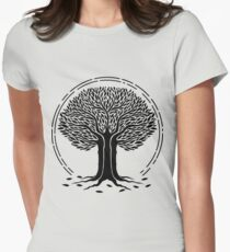 desolate tree Womens Fitted T-Shirt