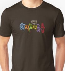 ohm mani padme hum colored Unisex T-Shirt