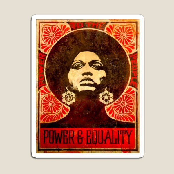 Angela Davis poster 1971 Magnet
