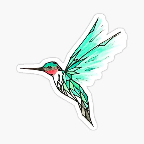 Verre oiseau Sticker