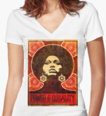 Angela Davis poster 1971 Women's Fitted V-Neck T-Shirt
