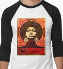 Angela Davis poster 1971 Baseball ¾ Sleeve T-Shirt