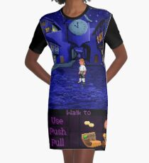 Melee Island streets (Monkey Island 1) Graphic T-Shirt Dress