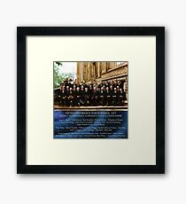1927 Solvay Conference (LISA wave bg), posters, prints Framed Print