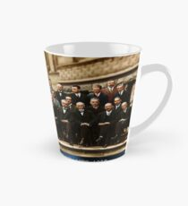 1927 Solvay Conference (LISA wave bg), posters, prints Tall Mug
