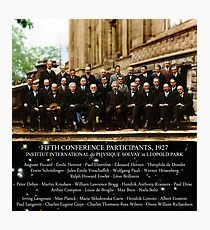 1927 Solvay Conference (spacetime bg), posters, prints Photographic Print