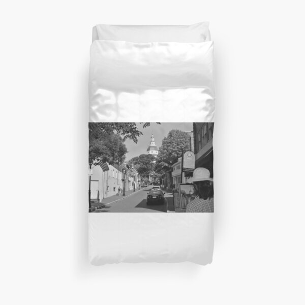 Painting the Street, MD Capital  Duvet Cover