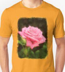 Pink Roses in Anzures 3 Vivid Oil Unisex T-Shirt