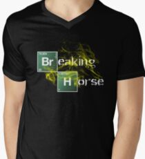 Breaking Horse Men's V-Neck T-Shirt