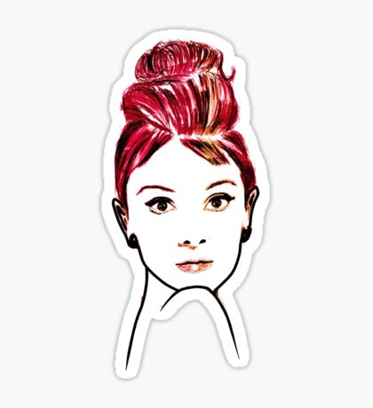 audrey hepburn drawing Sticker