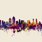 San Diego California Skyline by Michael Tompsett