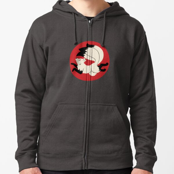 Three-Tailed Kitsune Zipped Hoodie