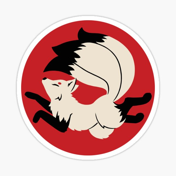 Three-Tailed Kitsune Sticker