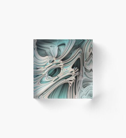 Cosmic creature #Fractal Acrylic Block