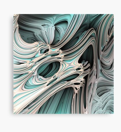 Cosmic creature #Fractal Canvas Print