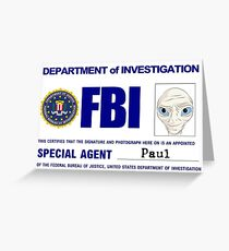 Paul the Alien's FBI ID Greeting Card