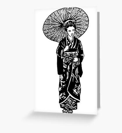 geisha 01-1 Greeting Card