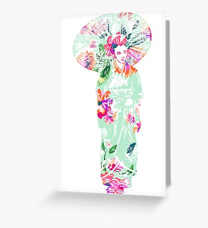 geisha 01-3 Greeting Card