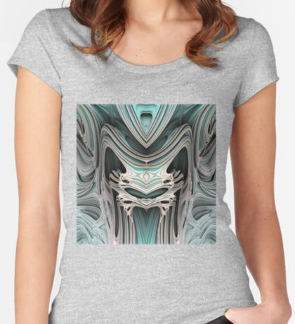 Cosmic creature #Fractal B Women's Fitted Scoop T-Shirt