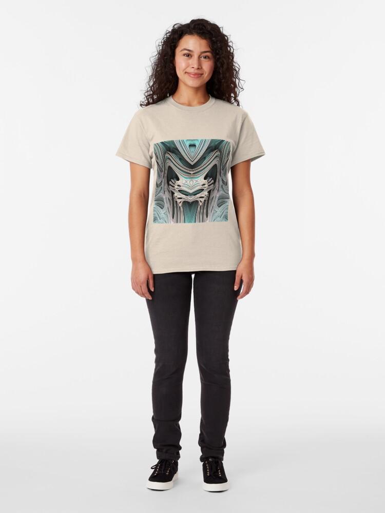 Alternate view of Cosmic creature #Fractal B Classic T-Shirt