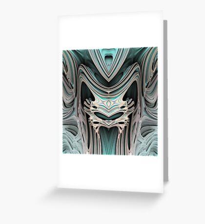 Cosmic creature #Fractal B Greeting Card