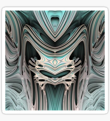 Cosmic creature #Fractal B Sticker