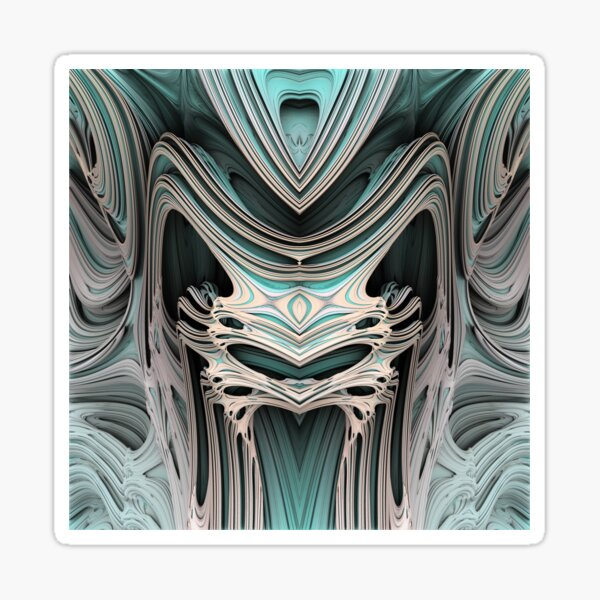 Cosmic creature #Fractal B Sticker