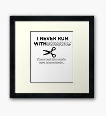 Run Scissors Framed Print