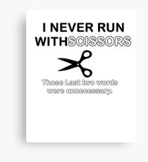 Run Scissors Canvas Print